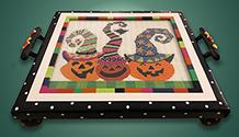 3 Pumpkins tray