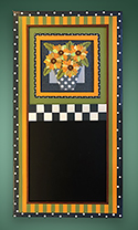 Floral chalk board