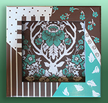 CO JD4006B Antler Damask-Burlap