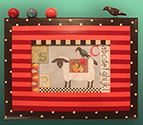 KCA2618 Folk Art Sheep & Crow Sampler