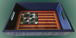 Abstract flag tray