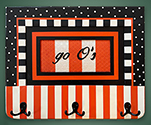 "Go ""O's!"" coat rack"