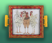 RNt-BY106 3 Roosters Tray