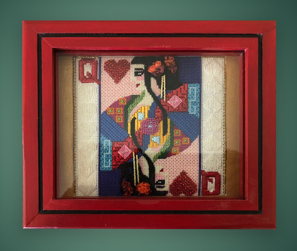 bbMPA195 Queen of Hearts card box