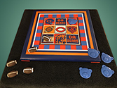"""Go Bears"" tic tac toe board"