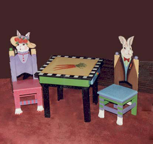 Patience and Borace Children's chairs and table