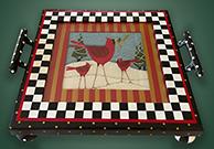 Cardinal tray