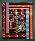 Colorful cat frame