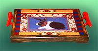 COt-LR395 Floral Framed Bunny