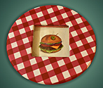 lsZI2 Lazy Susan with Burger