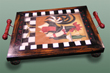 pstm1334 Rooster Waiter Tray