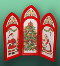 Santa Triptych